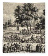 Magdeburg Hemispheres, 17th Century Fleece Blanket
