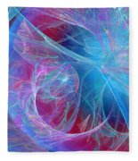 Magenta Blue Fleece Blanket