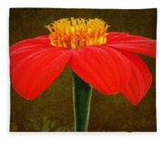 Magenta Zinnia Flower Fleece Blanket