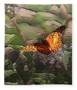 Magical Places For Butterflies Fleece Blanket