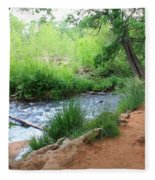 Magical Trees At Red Rock Crossing Fleece Blanket