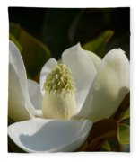Magnificent Alabama Magnolia Blossom Fleece Blanket