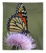Magnificient Monarch Fleece Blanket