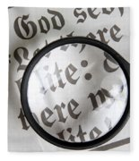 Magnifying News Fleece Blanket