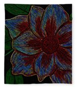 Magnolia Abstract Sketch Fleece Blanket