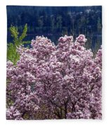 Magnolia By The Lake Fleece Blanket
