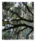 Magnolia Meets Live Oak Fleece Blanket
