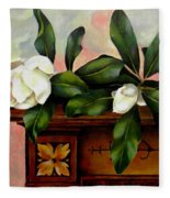 Magnolias Fleece Blanket