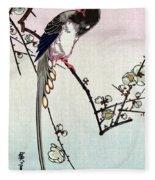 Magpie, 19th Century Fleece Blanket