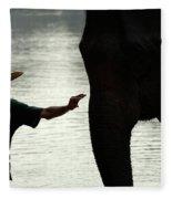 Mahut With Elephant Fleece Blanket