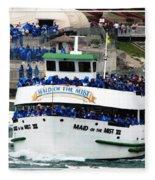 Maid Of The Mist Boat At Niagara Falls Fleece Blanket