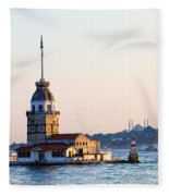 Maiden Tower In Istanbul Fleece Blanket