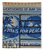 Mail Early For Christmas And Peace Fleece Blanket