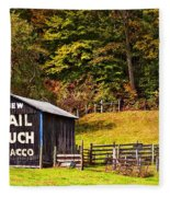 Mail Pouch Tobacco Barn Fleece Blanket