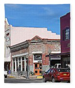 Main Street In Silver City Nm Fleece Blanket