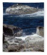 Maine Coast Surf Fleece Blanket