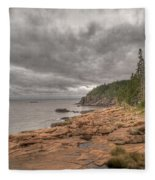 Maine Coastline. Acadia National Park Fleece Blanket