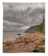Maine Coastline. Acadia National Park Fleece Blanket