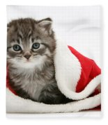 Maine Coon Kitten Fleece Blanket