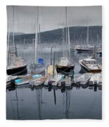 Maine Harbor Fleece Blanket