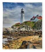 Maine Head Light Fleece Blanket