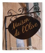 Maison De L'olive Fleece Blanket