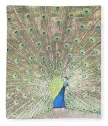 Majestic Peacock Fleece Blanket