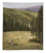 Majesty In The Rockies Fleece Blanket
