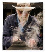 Making Billy Tea Fleece Blanket