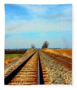 Making Tracks Fleece Blanket