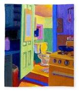 Malden Bathroom 1977 Fleece Blanket