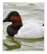 Male Canvasback Duck  Fleece Blanket