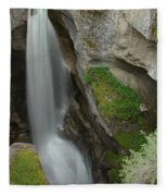 Maligne Canyon 2 Fleece Blanket