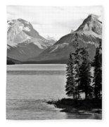 Maligne Lake Fleece Blanket