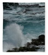 Maliko Point Maui Hawaii Fleece Blanket