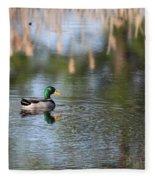 Mallard - Duck - Lonely Guy Fleece Blanket