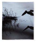 Mallard - Duck - Near The Tombigbee Fleece Blanket