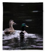 Mallards - Like Walking In The Rain Fleece Blanket