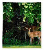 Mama And Baby Fleece Blanket