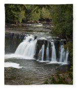 Manabezho Falls 3 Fleece Blanket