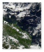Manam Island, Papua New Guinea Fleece Blanket