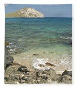 Manana Island View 0068 Fleece Blanket