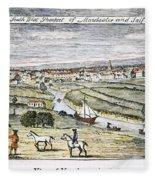Manchester, England, 1740 Fleece Blanket