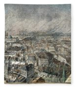 Manchester, England, 1876 Fleece Blanket