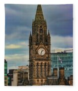 Manchester Town Hall Fleece Blanket