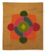 Mandal Rangoli Fleece Blanket