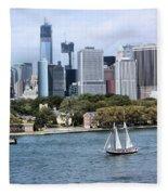 Manhattan Backdrop Fleece Blanket