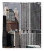 Manhattan Buildings Fleece Blanket
