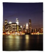 Manhattan Panorama Fleece Blanket