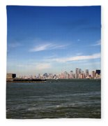 Manhattan Skyline Fleece Blanket